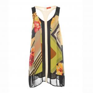 Платье без рукавов с принтом RENE DERHY. Цвет: зеленый