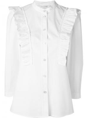 Рубашка с рюшами Marc Jacobs. Цвет: белый