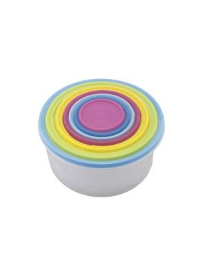 Набор контейнеров круглых 7 предметов (4900мл; 2900мл; 1850мл; 1100мл; 680 мл. ;355мл.; 170мл.) PATRICIA. Цвет: синий,зеленый,фиолетовый
