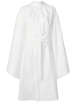 Extra wide sleeve dress A.W.A.K.E.. Цвет: белый