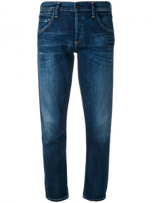 Cropped straight leg jeans Citizens Of Humanity. Цвет: синий