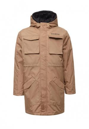 Куртка утепленная Bikkembergs. Цвет: бежевый