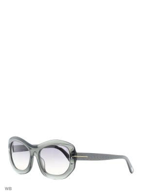 Солнцезащитные очки FT 0382 20B Tom Ford. Цвет: зеленый