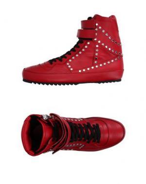 Высокие кеды и кроссовки COSTUME NATIONAL HOMME. Цвет: красный