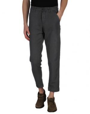 Повседневные брюки CELLAR DOOR. Цвет: свинцово-серый