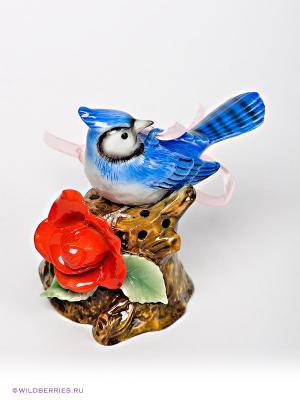 Подвесная фигурка Лазоревка Pavone. Цвет: коричневый, синий
