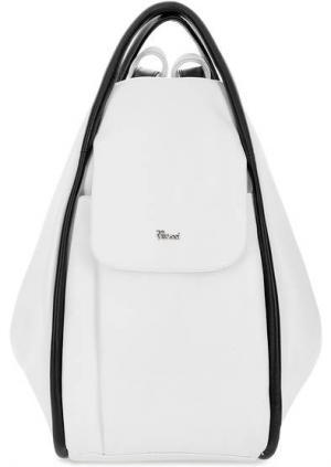 Кожаная сумка-рюкзак с тремя отделами Bruno Rossi. Цвет: белый
