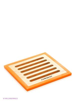 Подставка под горячее Frybest. Цвет: оранжевый, бежевый
