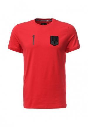 Футболка Bikkembergs. Цвет: красный