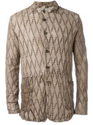 Куртка с лазерной перфорацией Giorgio Brato. Цвет: телесный