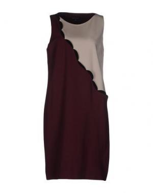 Короткое платье WALTER VOULAZ. Цвет: пурпурный