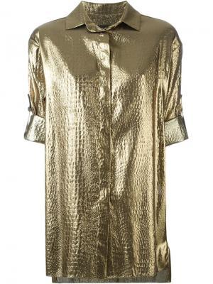 Рубашка с отделкой металлик Alexandre Vauthier. Цвет: металлический
