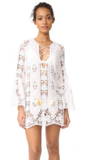Платье-туника с Karla Miguelina. Цвет: белый