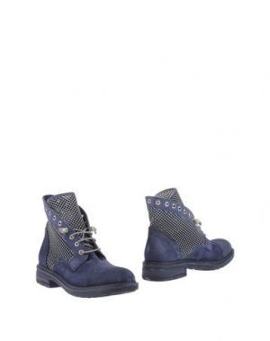 Полусапоги и высокие ботинки FRU.IT. Цвет: грифельно-синий
