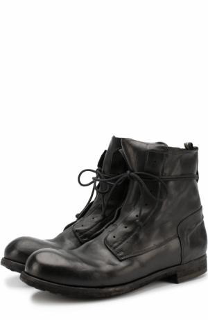 Высокие кожаные ботинки без шнуровки на молнии Officine Creative. Цвет: черный
