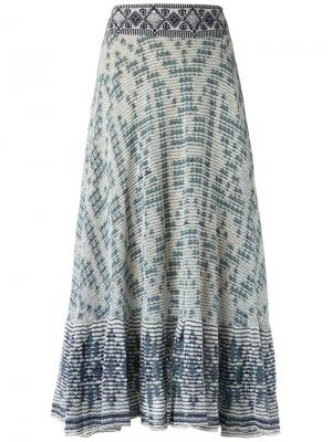 Трикотажное платье миди Cecilia Prado. Цвет: none