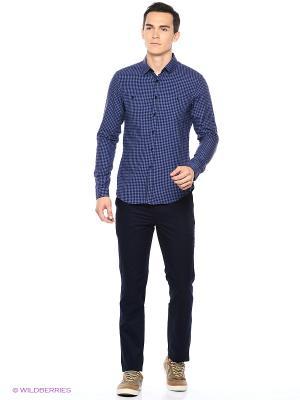Рубашка Reserved. Цвет: темно-синий