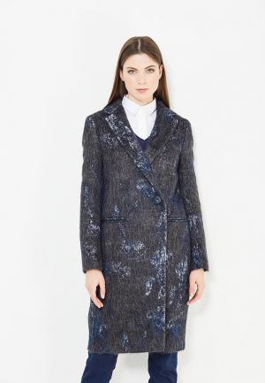 Пальто Trussardi Collection. Цвет: синий