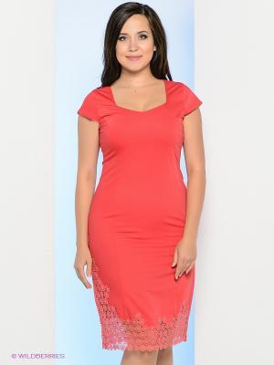 Платье Milana Style. Цвет: коралловый