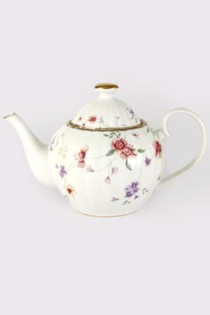 Чайник 1,2 л Флёр Colombo. Цвет: белый