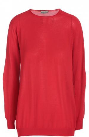 Вязаный свитер Balenciaga. Цвет: красный