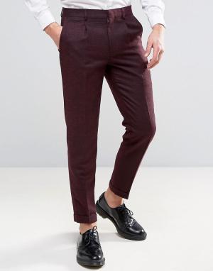 Harry Brown Бордовые узкие брюки Heritage. Цвет: красный
