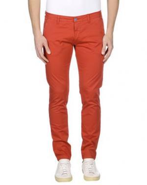 Повседневные брюки EXCLUSIVE. Цвет: красный