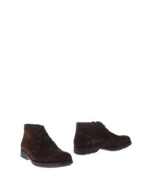 Полусапоги и высокие ботинки VALLEVERDE. Цвет: темно-коричневый