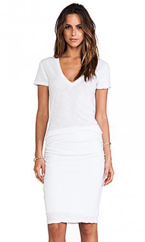 Макси платье ssj basics MONROW. Цвет: белый