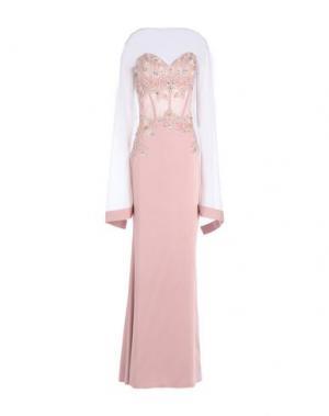 Длинное платье MUSANI COUTURE. Цвет: розовый