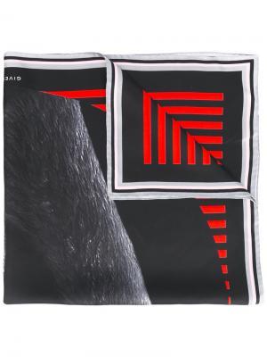 Платок с принтом фламинго Givenchy. Цвет: чёрный