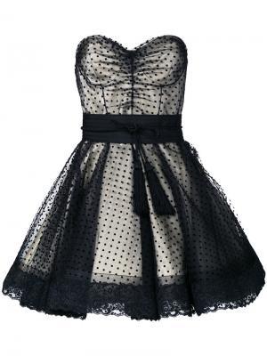 Коктейльное платье в горох Marc Jacobs. Цвет: чёрный