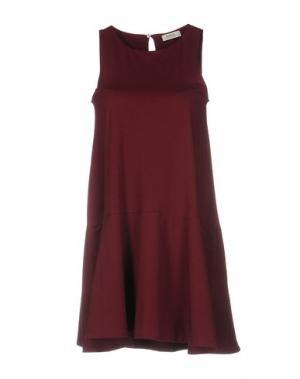 Короткое платье ALPHA STUDIO. Цвет: красно-коричневый
