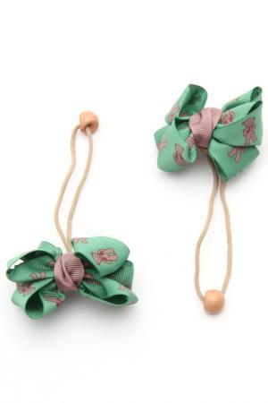 Набор резинок NICE GIRL. Цвет: зеленый