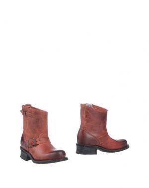 Полусапоги и высокие ботинки FRYE. Цвет: кирпично-красный