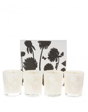 Cowshed Набор мини-свечей с успокаивающим ароматом Lazy Cow. Цвет: бесцветный