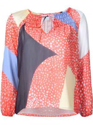 Блузка с принтом Parry Diane Von Furstenberg. Цвет: многоцветный