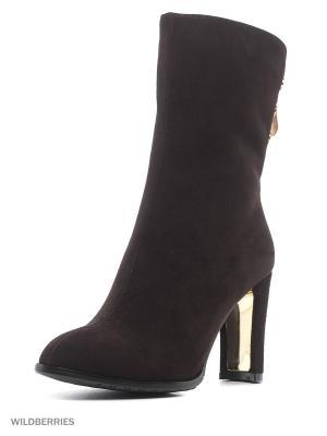 Ботинки Renaissance. Цвет: темно-коричневый