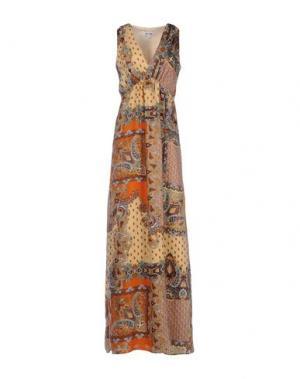 Длинное платье DRY LAKE.. Цвет: абрикосовый