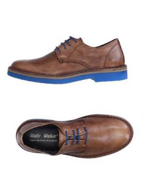Обувь на шнурках WALLY WALKER. Цвет: коричневый