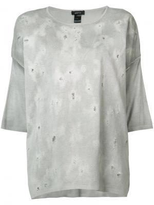 Блуза свободного кроя Avant Toi. Цвет: серый