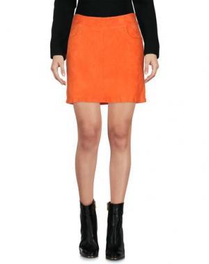 Мини-юбка ENES. Цвет: оранжевый