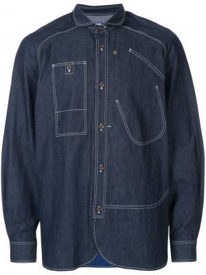 Рубашка с декоративной строчкой Junya Watanabe Comme Des Garçons Man. Цвет: синий