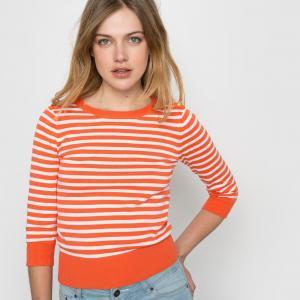 Пуловер в полоску MADEMOISELLE R. Цвет: в полоску оранжевый,синий в полоску