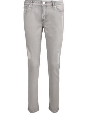Зауженные джинсы MICHAEL KORS. Цвет: серый