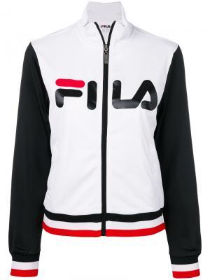 Спортивная куртка с логотипом Fila. Цвет: белый