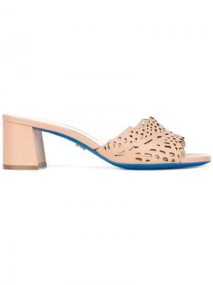 Босоножки на каблуке Loriblu. Цвет: телесный
