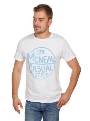 Футболка логотип McNeal. Цвет: голубой, белый