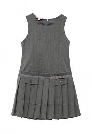 Платье Brums. Цвет: серый