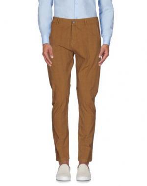 Повседневные брюки ONE SEVEN TWO. Цвет: коричневый